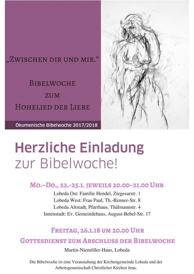 """""""Zwischen dir und mir.""""Eine Bibelwoche zum Hohelied der Liebe(3)"""