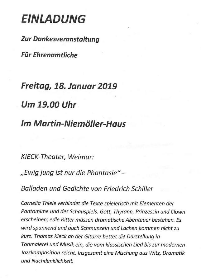 Dankveranstaltung Ehrenamt 180119 Niemöllerhaus