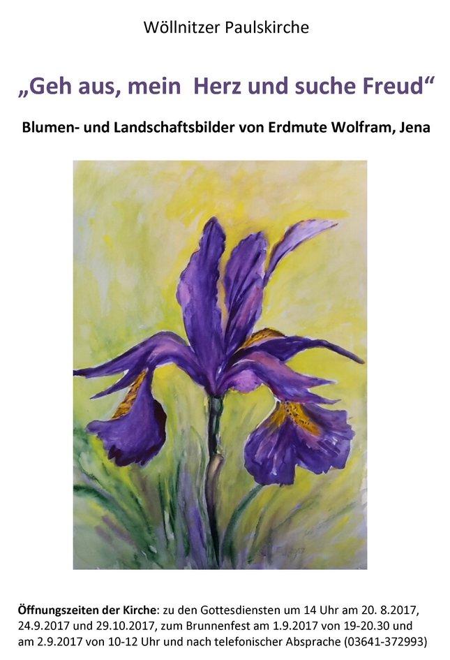 Wöllnitzer Paulskirche Blumen 4