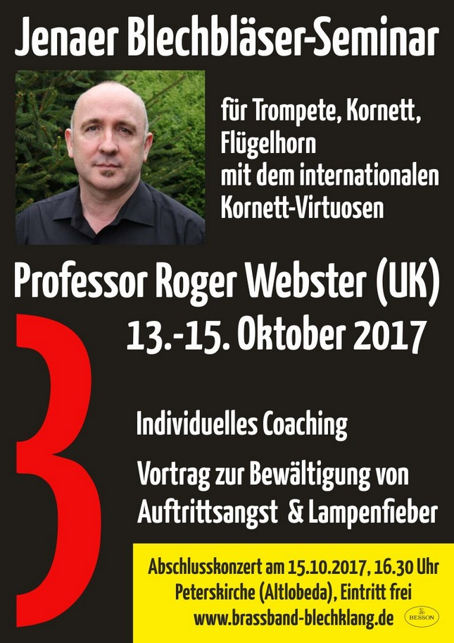 Workshop Roger Webster Konzert